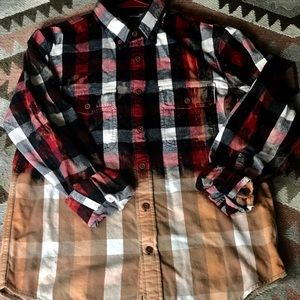 EUC upcycled Abercrombie and Fitch flannel Medium